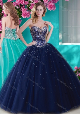 Artistic Big Puffy Tulle Sweet 15 Dress with Beading  and Rhinestone