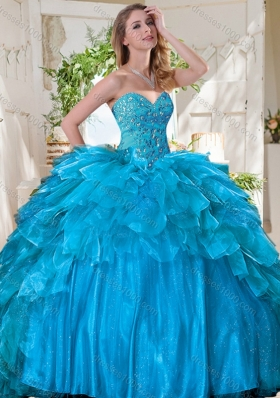 New Arrivals Beaded Bodice and Ruffled Quinceanera Dress in Tulle