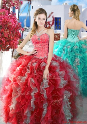 Lovely Really Puffy Quinceanera Dress with Beading and Ruffles