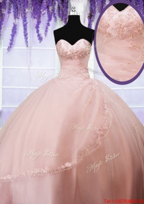 Cheap Ball Gown Sweetheart Quinceanera Dress with Appliques and Beading