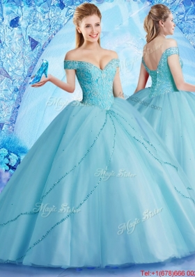 Hot Sale Big Puffy Quinceanera Dress with Off the Shoulder