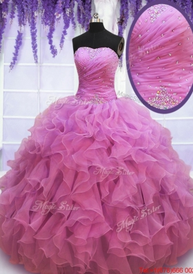New Arrivals Sweetheart Beaded and Ruffled Quinceanera Gown in Organza