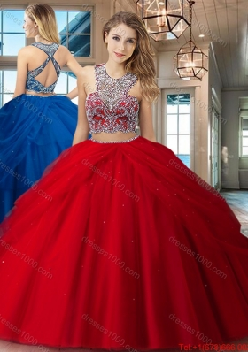 Popular Big Puffy Criss Cross Quinceanera Dress with Beading and Pick Ups