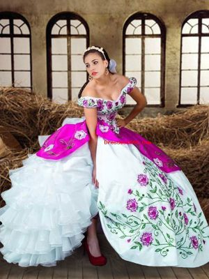 Modest Multi-color Sleeveless Taffeta Lace Up Quinceanera Gown for Military Ball and Sweet 16 and Quinceanera