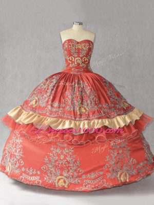 Ideal Satin and Organza Sleeveless Floor Length Quinceanera Dresses and Embroidery and Bowknot