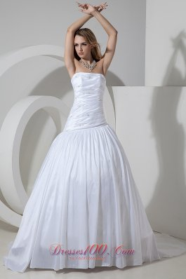 Wonderful Ruched Bridal Gowns Strapless On Sale