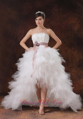 Gorgeous Floral High-low Wedding Dress Belt