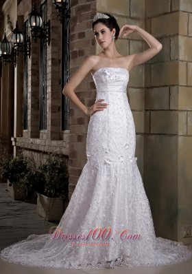 Mermaid Beaded Chapel Train Wedding Bridal Gowns