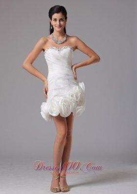 Inexpensive Column Sweetheart Beading Beach Wedding Dress
