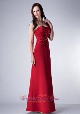Red Sweetheart Mother�s Dress With Beading