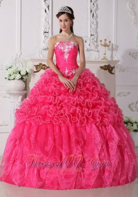 Modest Quinceanera Dress Floral Beading Strapless
