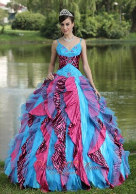 Straps Sweethear multi-color Sweet 16 Dress Floor-length