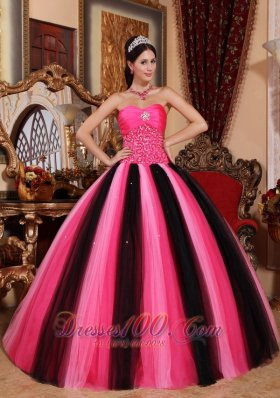 Strapless Colorful Sweet 15 Dress Floor-length