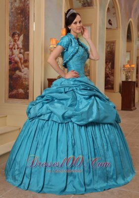 Unique Quinceanera Dress Pick-ups Teal Sweetheart
