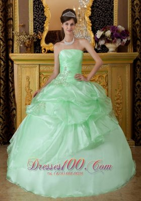 Apple Green Pick-ups Sweetheart Sweet 16 Dress
