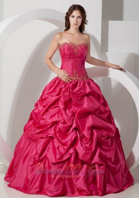 Pick-ups Hot Pink Sweet 16 Dress 2013 Beading
