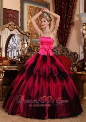 Wonderful Strapless Tulle Tulle Beading Quinceanera Dress