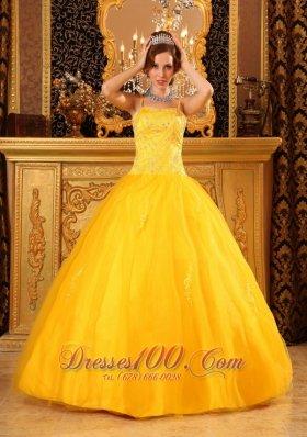 Spaghetti Straps Orange Dresses for Quince Satin and Organza