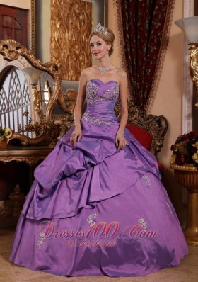Lavender Sweet 16 Dress Sweetheart Appliques