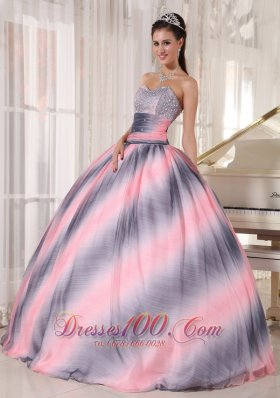 Classical Ombre Color Sweet 15 Dress Ball Gown