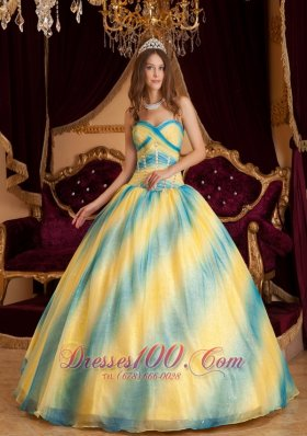 Ombre Color Sweetheart Sweet Sixteen Quinceanera Dresses