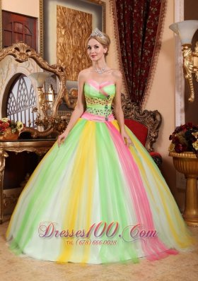Latest Quinceanera Dress Sweetheart Tulle Beading