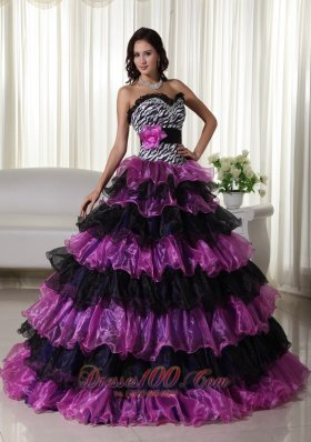Fashionable Gown Sweetheart Organza Quinceanera Dress