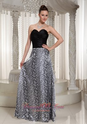 Leopard Maxi Dress Black Floor-length
