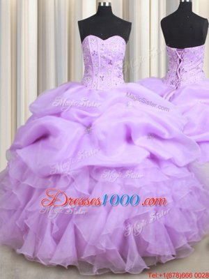 With Train Lace Up Quince Ball Gowns Teal and In for Military Ball and Sweet 16 and Quinceanera with Beading and Ruffles Brush Train