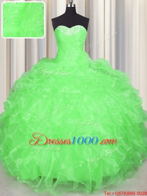 Floor Length Ball Gowns Sleeveless Ball Gown Prom Dress Lace Up
