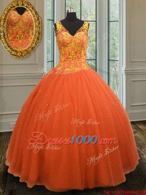Dramatic Sleeveless Beading Zipper 15th Birthday Dress