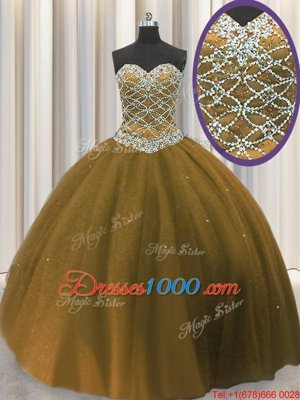 Four Piece Purple Lace Up Quinceanera Dresses Embroidery and Ruffles Sleeveless Floor Length