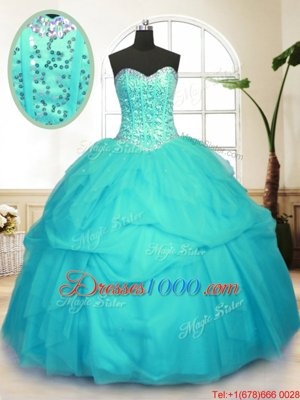 Colorful Dark Purple Ball Gowns Strapless Sleeveless Tulle Floor Length Lace Up Beading Ball Gown Prom Dress
