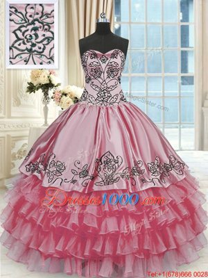 Exceptional Sweetheart Sleeveless Organza 15 Quinceanera Dress Beading and Ruffles Lace Up