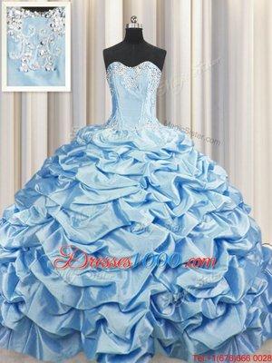 Floor Length Lavender Quinceanera Dress Taffeta Sleeveless Appliques