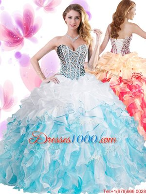 Customized Lavender Ball Gowns Beading Vestidos de Quinceanera Lace Up Tulle Sleeveless Floor Length