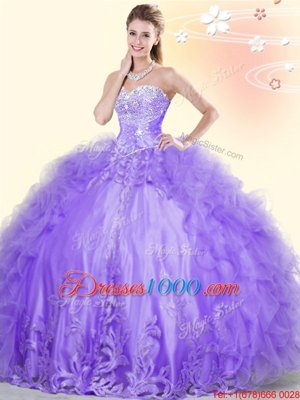 Deluxe Tulle Backless High-neck Sleeveless Floor Length 15 Quinceanera Dress Beading