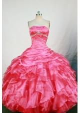 Cute Ball Gown Strapless Floor-length Quinceanera Dress