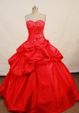 Popular Ball Gown Sweetheart Floor-length Quinceanera Dresses Appliques