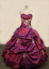 Luxurious Ball Gown Sweetheart Floor-length Quinceanera Dresses Appliques