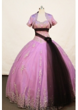 Affordable Ball gown Strapless Floor-length Lavender Quinceanera Dress