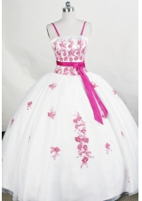 Beautiful Ball Gown Strap Floor-length Organza Quinceanera Dress