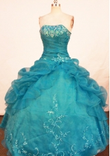 Beautiful Ball Gown Strapless Floor-length Quinceanera Dresses Embroidery