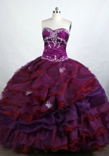 Beautiful Ball Gown Sweetheart-neck Floor-length Organza Quinceanera Dresses