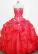 Cute Ball Gown Strapless Floor-length Quinceanera Dresses Appliques