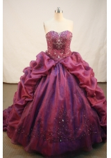 Exquisite Ball gown Strapless Sweep Train Quinceanera Dresses