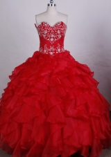 Exquisite Ball gown Sweetheart-neck Floor-length Quinceanera Dresses