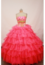 Luxurious Ball gown Strapless Floor-length Quinceanera Dresses