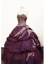 Pretty Ball gown Strapless Floor-length Purple Quinceanera Dress