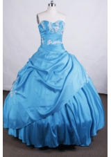 Elegant Ball gown Sweetheart Floor-length Quinceanera Dresses Appliques with Beading
